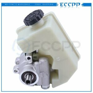 Power Steering Pump With Reservoir For 02 06 Jeep Liberty 2 4l 3 7l V6 Sohc New