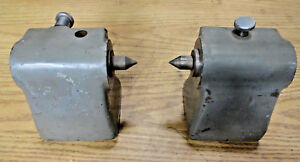 Lot 2 Bench Center Tailstock Riser Blocks Assembly Metal Milling Parts