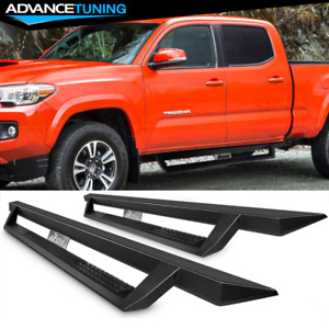 Fits 07 19 Toyota Tacoma Double Cab Steel Side Step Bar Running Boards Black