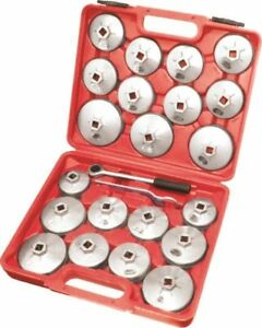 23pc Aluminum Alloy Cup Type Oil Filter Cap Wrench Set Socket Removel Us Ship