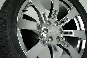 22 2014 Escalade Wheels Chrome Rims Tires Ck375 Platinum Premium 5409 Cadillac