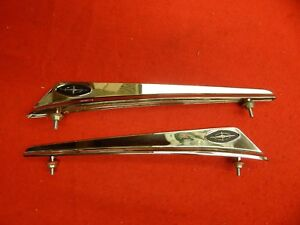 New Pair Of 63 Ford Galaxie 500 Xl Fender Top Ornaments Emblems Chrome