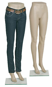 Female Plastic Mannequin Leg Form Height 43 With Base
