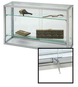 Countertop Display Case Upright Glass 18 h X 8 d X 30 l lock Included