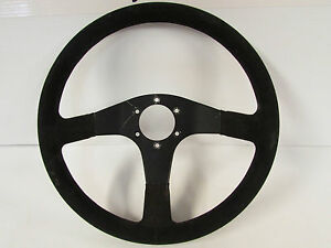 Jdm Honda Mugen Momo Type D35 Black Suede Steering Wheel 350mm Integra Civic