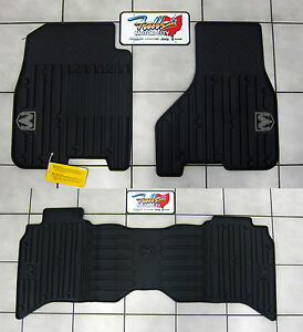 2009 2012 Dodge Ram Crew Cab All Weather Rubber Slush Floor Mats Mopar Oem