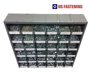 2540 Piece Metric Class 8 8 Bolt Nut And Washer Assortment With 36 Hole Bin