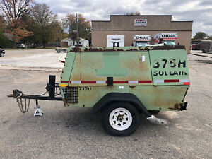 Sullair Air Compressor Trailer 375 Cfm John Deere Turbo Diesel