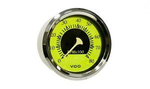 Vdo Allentare Yellow Blue 8000rpm 3 3 8 85mm Outboard Tachometer 12v Clearness