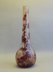 Massive Rare 25 5 Legras Cameo Glass Vase C 1920 French Art Nouveau