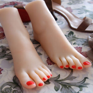 Full Silicone Female Foot Mannequin Model Shoes Display Size 3717 A450