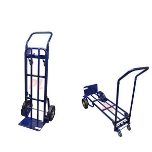 Heavy Duty 2 In 1 Appliance Hand Truck Dolly Cart Moving Mobile Lift 4 Wheels