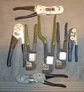 7 Buchanan Crimpers Electrical M22520 202 227 All Different Lot 7