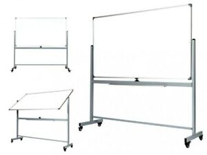 Officegenius Large 68x38 Magnetic White Board On Wheels With Stand Dry Erase