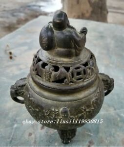 13 5 Cm China S Copper Maxim Buddha Incense Burner Three Legs