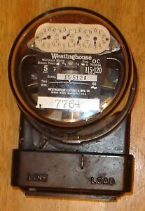 Vintage Westinghouse Type Oc Electric Watthour Meter 115 120 Volts Steampunk