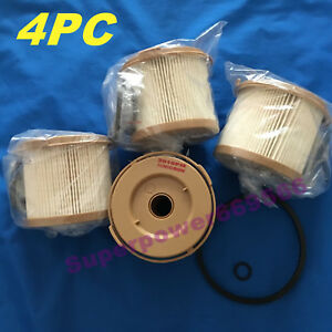 4pc Fuel Separator Element Filter Replacement For Racor 500fg 2010pm 30 Micron
