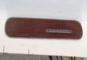 1969 Cougar Dash Rh Wood grain Trim And Emblem Bezel Plate Mercury 1970
