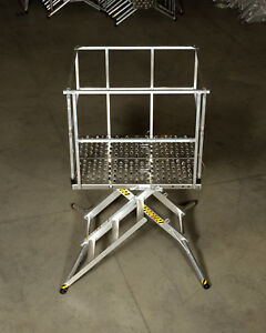 X deck Portable Stage 3 Step 36 Work Platform Ladder 4 000 Lbs Capacity