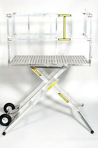 X deck Portable Stage 4 Step 36 Work Platform Ladder 4 000 Lbs Capacity