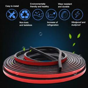 Sloping B Shaped Car Door Seal Strip Rubber 5m Trunk Hood Edge Insulation Trim