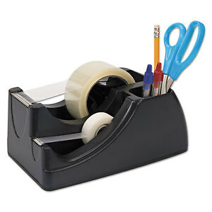 Officemate Recycled 2 in 1 Heavy Duty Tape Dispenser 1 And 3 Cores Black 96690