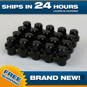 Set Of 20 Land Rover Black Lugnuts For Range Rover Discovery Oem Factory Wheel