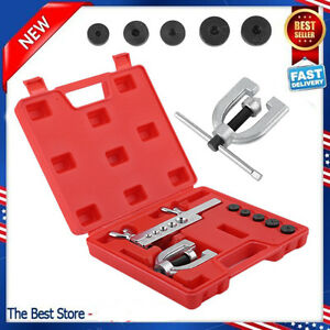 Sae Double Flare Brake Line Flaring Hand Tool Set Kit With Case Oy