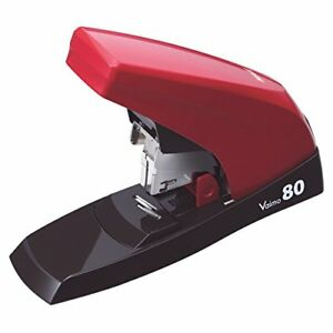 Max Max Staplers Desktop Stapler Fritillaria 80 Flat 80 Sheets Red Hd 11ufl R