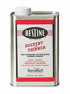 Bestine Solvent And Thinner For Rubber Cement Cleans Ink Adhesive And Parts