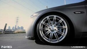 New Staggered 22x9 22x10 5 5 108 Vossen Cv4 Silver W Polished Face Jaguar
