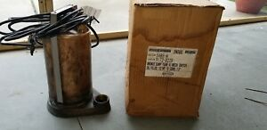 Bronze Sump Pump With Mechanical Switch Oil Filled 1 2hp 10 Cord