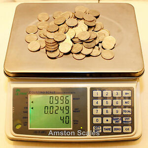 31 Off Refurbished used Counting Parts Coin Scale 33 X 001 Lb 15 Kg X 0 5 Gram