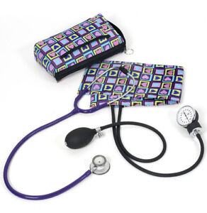 Prestige Medical Clinical Lite Combination Steth Kit four Square Hearts New