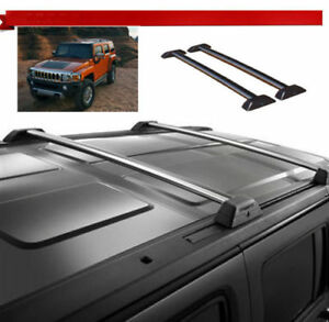 Oe Style 06 10 Hummer H3 H3t Roof Rack Cross Bars Set W key Luggage