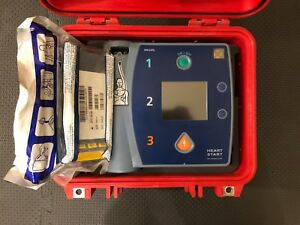 Philips Heartstart Fr2 Aed M3861a New Battery New Pads Pelican Case