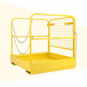 36 x36 Heavy Duty Forklift Safety Cage Steel Work Platform 749 Lbs Capacity