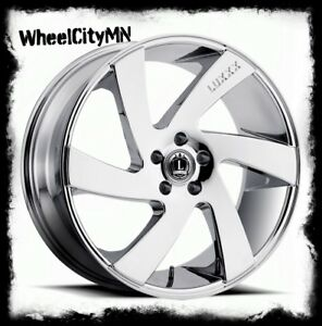 20 Inch Chrome Luxxx Lux10 Wheels Fits Cadillac Ats Dts Sts Deville New 4x Rims