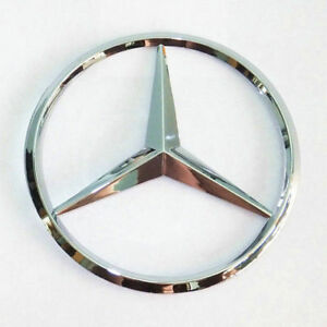 Mercedes Benz Trunk Chrome Star Emblem Badge Logo 3 5 90mm 2128170016