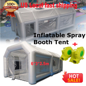 Inflatable Giant Spray Paint Booth Car Workstation Tent 6 3 2 5m Waterproof 19ft