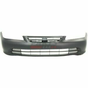 New Front Bumper Cover Primed Fits 2001 2002 Honda Accord Sedan 04711s84a91zz