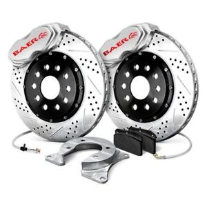 For Ford Mustang 65 66 Baer Ss4 Plus Drilled Slotted Front Brake System