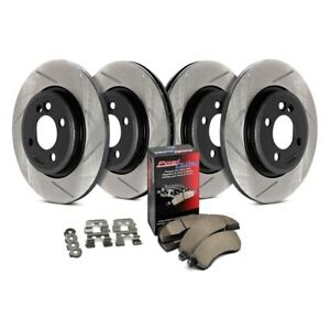 For Honda Prelude 97 01 Stoptech Street Slotted 1 Piece Front Rear Brake Kit