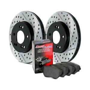 For Mitsubishi Sigma 90 Stoptech Street Drilled Slotted Rear Brake Kit