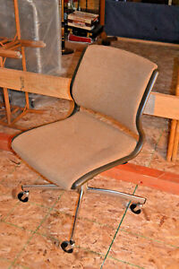 Vtg Steelcase Swivel Office Computer Chair Ergonomic Lumbar Mid Century