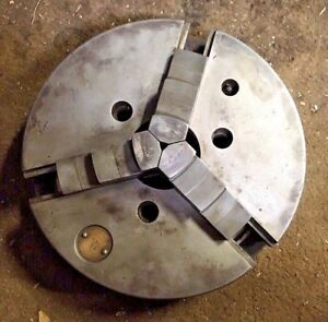 12 Cushman 3 Jaw Metal Lathe Chuck Flat Back Great 4 Rotary Table Super Spacer