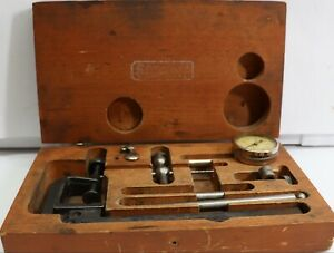 Starrett 196 Indicator Set Nice With Fitted Wood Box