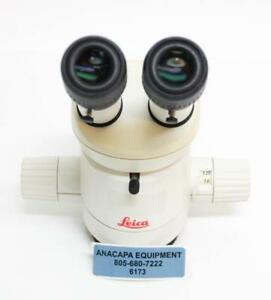 Leica Mz6 Microscope Head With Leica 10445619 W Eyepieces 16x 14b 10445301 6173