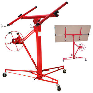 Drywall Sheetrock Wall Panel Installation Cart Roller Lifting Stand
