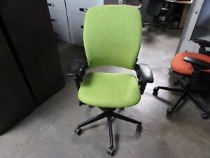 Lime Green Steelcase Leap V2 Chair